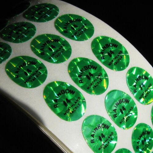 Lot of 144 A1 Green #4 Holographic Northland Tackle Replacement Decals