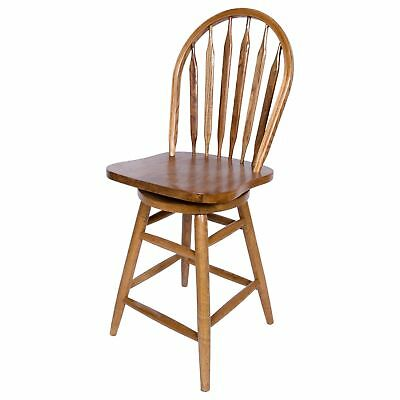 Fine Solid Medium Oak Windsor Back Swivel Counter Height Bar Stool Chair Seat Caraccident5 Cool Chair Designs And Ideas Caraccident5Info