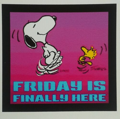 Peanuts Snoopy Charlie Brown ♡ Friday is Finally here ♡   Magnet.