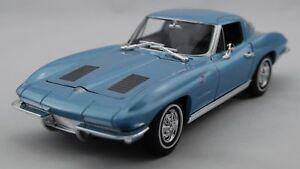 Chevy Chevrolet Corvette 1963 blau 1:24 Welly  Modellauto