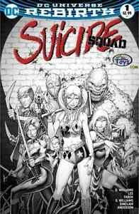 SUICIDE SQUAD 1 V4 CINCINNATI COMIC EXPO FABOK B/&W SKETCH VARIANT