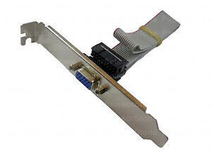 VGA-SVGA-Video-Graphics-Adapter-Card-Slot-Bracket-Header-Cable-15-Pin-16-Hole