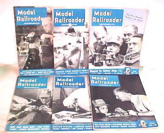 LOT of 1949 Model Railroader TRAIN MAGAZINES
