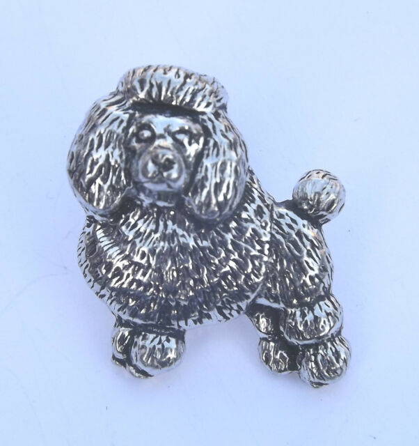 Poodle Dog Hand Made In Uk Pewter Lapel Pin Badge