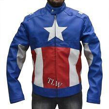 New the Avengers 2 Assembled Captain America,  Faux Leather Jacket Chris Evans