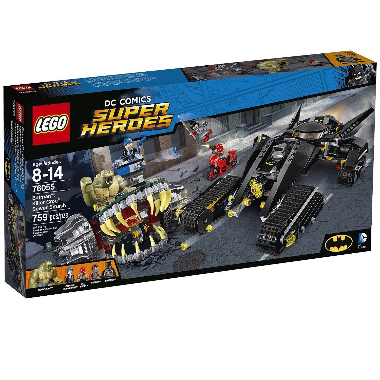 Lego Super Heroes läderlappen Killer Croc Seeder Smash 76055 konstruktion Set