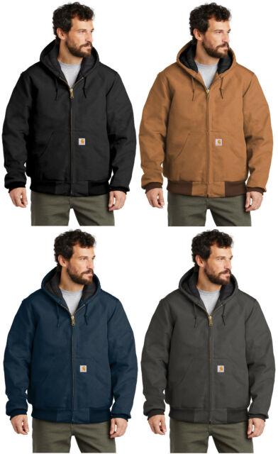 Carhartt Mens Big /& Tall Quilted Flannel-Lined Sandstone Active Jacket J130