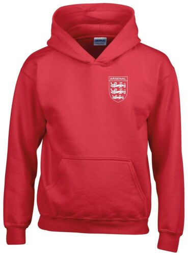 ARSENAL 3 LIONS CLUB AND COUNTRY SMALL CREST HOODIE KIDS