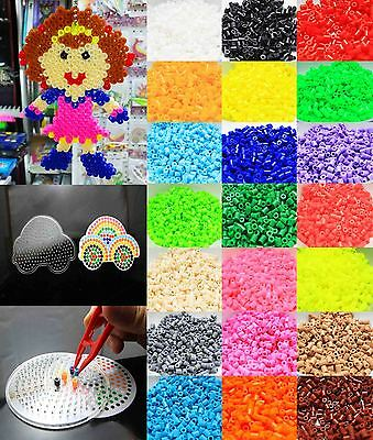 New 1000pcs HAMA/PERLER BEADS for GREAT Kids Great Fun 24 single color
