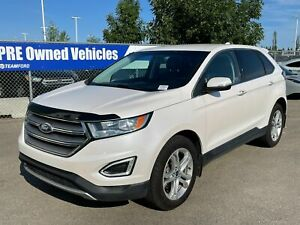 2017 Ford Edge TITANIUM, 301A, AWD, 2.0L, LEATHER, BLIND SPOT MONITORING SYS, HTD STEERING WHEEL, HTD/COOLED FRNT SEATS, NAV, CRUISE CONTROL, M