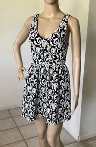 FOREVER-21-Womens-Size-Small-Sleeveless-Fit-And-Flare-Skater-Sun-Tank-Dress