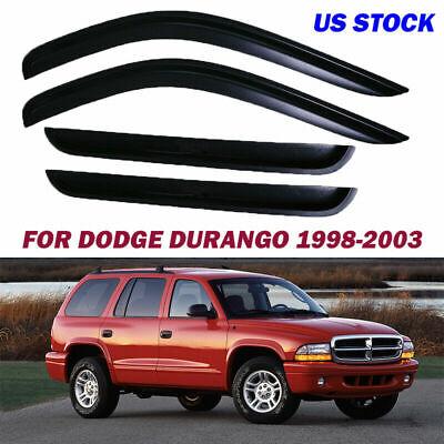 Window Visors Shade Vent Sun Wind Rain Guards Deflectors for Dodge Durango 98-03