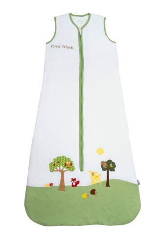 in 70 110cm Schlummersack Baby Sommerschlafsack 0.5 Tog Forest Friends erh 90