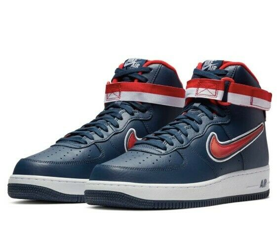 *NEW* (NIKE) Air Force 1 Hightop '07 LV8 Sport, Mens, Red White Blue Size 9