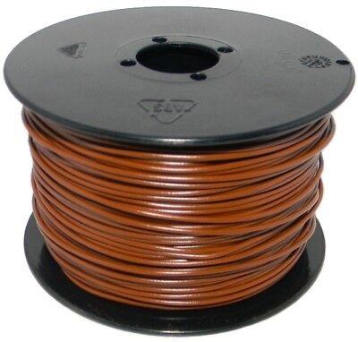 (0,12€/m)  100 Meter Spule Litze / Kabel 0,14mm² BRAUN