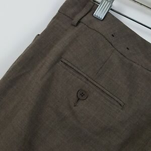 Express-Design-Studio-Editor-Brown-Women-039-s-Career-Dress-Pants-Sz-8r-30-x-32