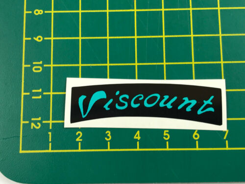 old school bmx decals stickers viscount dominator seat decal black and teal
