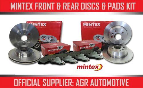 MINTEX FRONT REAR DISCS AND PADS FOR JAGUAR XF 3.0 238 BHP 2008-12