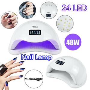 48W SUN 5 LED UV Nail Lamp Light Gel Polish Nail Dryer Curing Art Manicure Tool