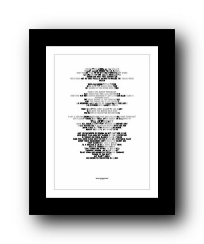 BRUCE SPRINGSTEEN ❤ The River ❤ song lyric poster art typography Print #38