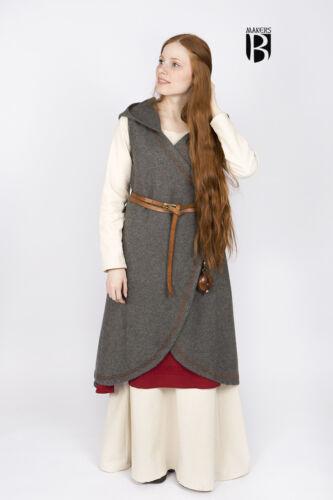 Medioevo fasciatoio abito lana undici guerrieri//morbide-grigio scuro di castello Schneider