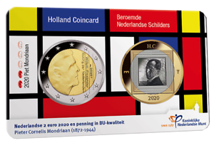 Nederland-coincard-2-euro-2020-MONDRIAAN-holland-coin-fair