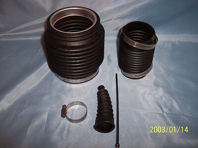 Mercruiser Bravo Bellows 3 Rubber Boots with screw clamps /& ring insert A//M