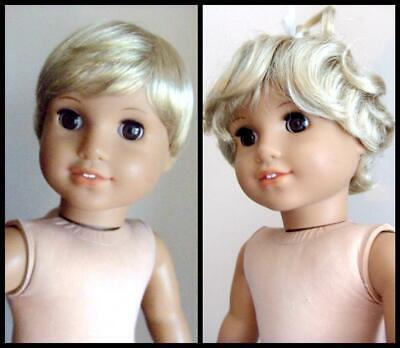 "Lot of 4 Girl Doll Chrissa Wig Nellie Wig Bob Twin Wigs 18/"" doll wig BIN"