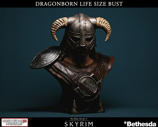 THE ELDER SCROLLS V SKYRIM LIFE SIZE BUST 1/1 DRAGONBORN 64 CM GAMING HEADS