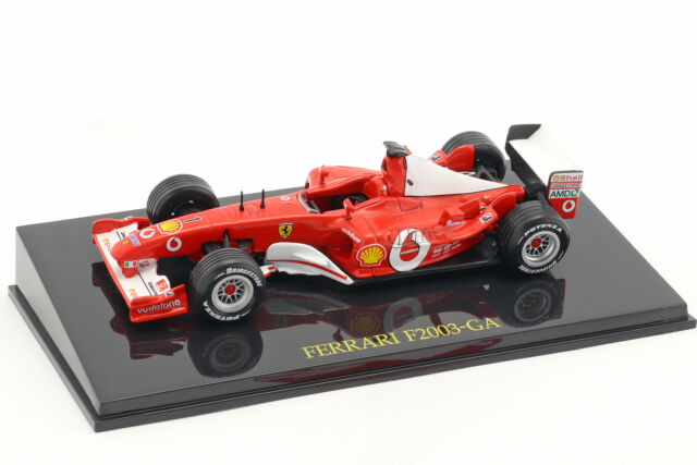 M. Schumacher Ferrari F2003-GA #1 Weltmeister Formel 1 2003 mit Vitrine 1:43 Alt