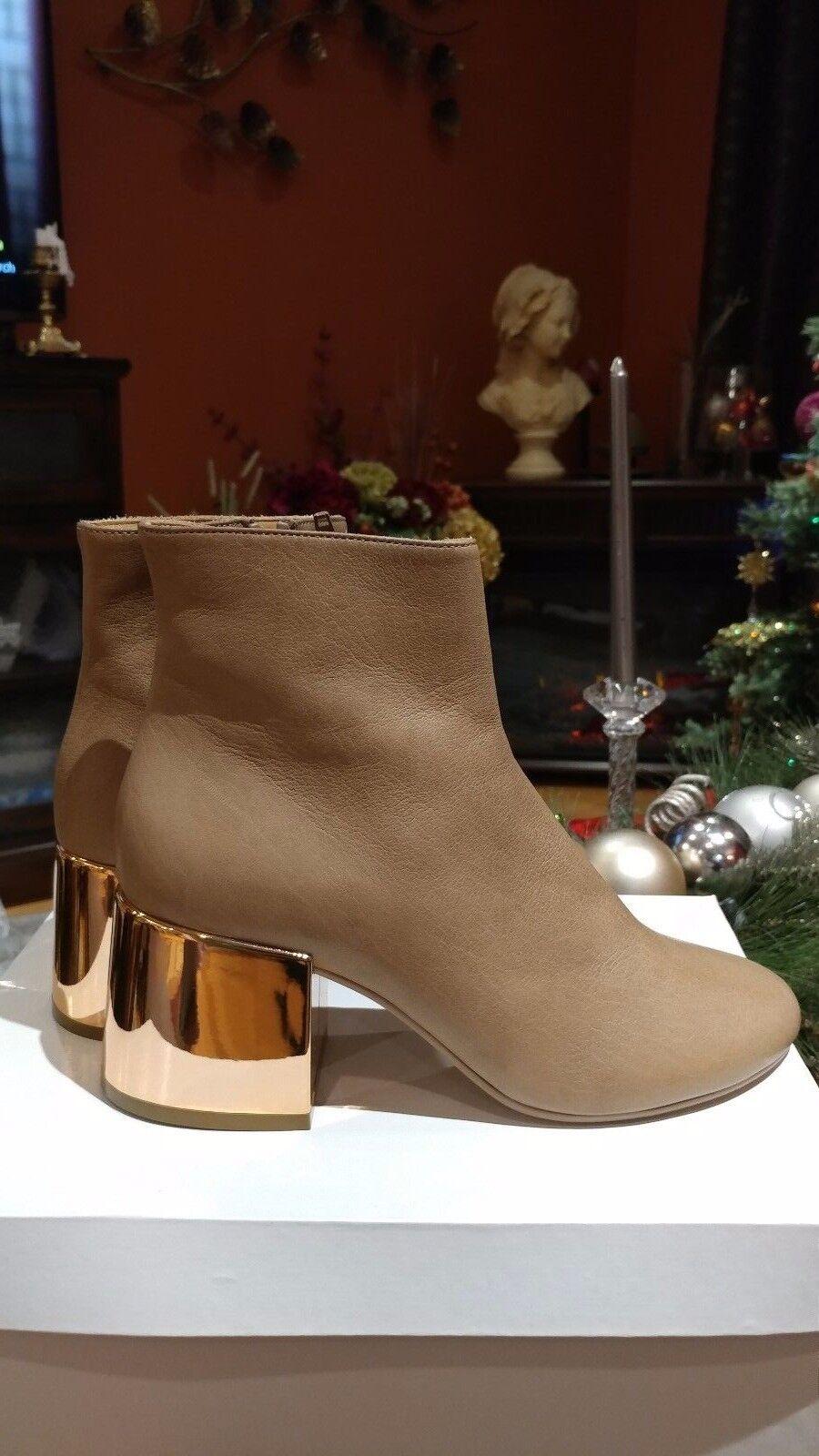 Maison Margiela leather new camel color booties size 38