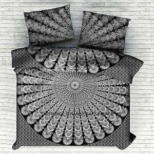 Indian Handmade Cotton Mandala Twin Size Duvet Cover Set