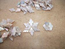 10 Rosa Conchiglia da liutaio intarsio intagliato Diamanti 12 x 7