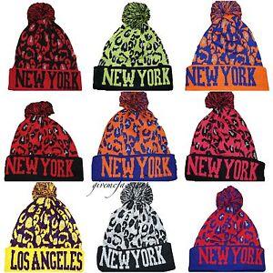 Image is loading Original-New-York-bobble-beanie-hats-NY-aztec- 55d0952c5ad