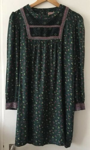 tunique avec ᄄᄂ de brodᄄᆭe Apc SRare taille robe Madras tablier fleurs ygfb76