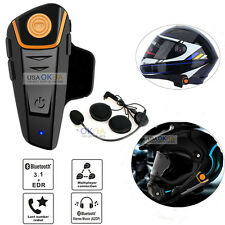 Bluetooth 1000M BT Motorcycle Helmet Interphone Intercom Headset FM Radio GPS