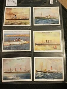 Famous-British-Liners-1934-Wills-Cigarette-Cards-Buy-2-amp-Save