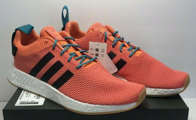 kody kuponów Los Angeles miło tanio adidas NMD R2 Summer Mens CQ3081 Trace Orange Knit Boost Running Shoes Size  12