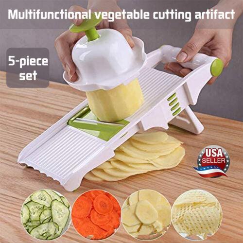 Slicer mini food processor shredder 5 stainless steel blade vegetable peeler US