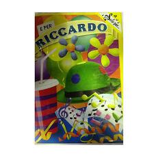 Tarjeta de cumpleaños musical genérico canta nome RICCARDO y FELIZ En TE