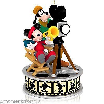 Hallmark 2014 Lights Camera Action Disney Magic Mickey Mouse Goofey Ornament