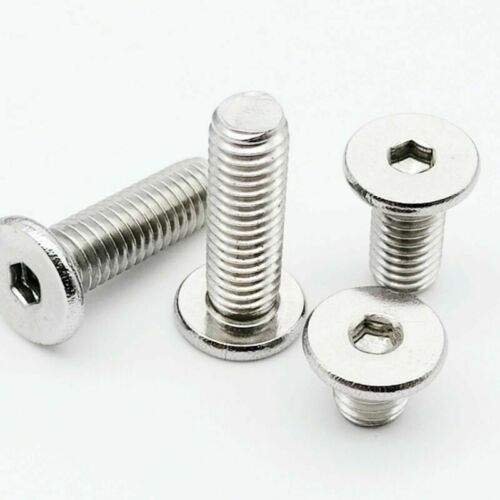 5//50pcs M2-M8 304 Stainless Steel Silver Hexagon Socket Flat Head Screw Bolt