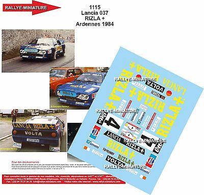 DECALS 1//24 REF 1066 LANCIA 037 RALLY VUDAFIERI TOUR DE CORSE 1983 WRC RALLYE
