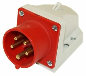 Starkstrom Stecker für Drehstrom Industrie CEE Stecker 400V 32A IP44  5-polig