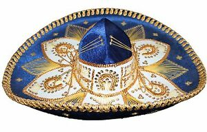 e48f5024ebecf La imagen se está cargando Sombrero-Mexicano-Mariachi-Adulto-Sombrero -Charro-cinco-de-