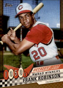 2020-Topps-Series-1-FRANK-ROBINSON-Decades-039-Best-GOLD-30-50-Reds-DB-7