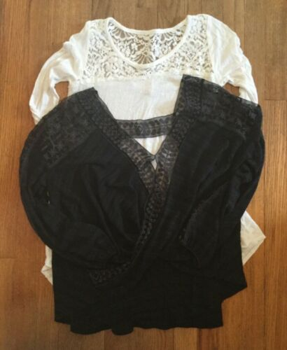 2 Women's Size Medium Lace Accent Tops - Free Peop