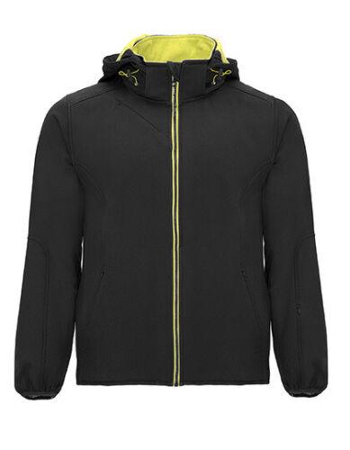 Softshell Jacke Outdoor Regenjacke Übergangsjacke Kapuze schwarz S M L XL 2XL