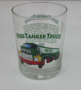 HESS 1996 COLLECTORS GLASS # 4 HESS TANKER TRUCK MINT