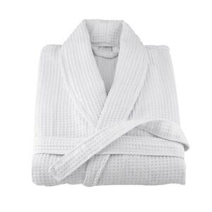 1ad4c14861 WAFFLE WHITE HOTEL SHAWL COLLAR ROBE DRESSING GOWN SHORT LENGTH 39 ...